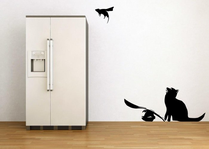 Banksy Cat and SuperMouse - Wonderful piece of Art