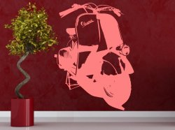 Legendary Vespa 1951 Wall Sticker. Piece of history on your wall!