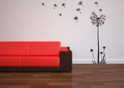 Huge Dandelion Flower Wall Stickers 180cm