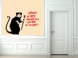 Banksy ' I'm out of bed and dressed, what more do you want?' Wall Sticker