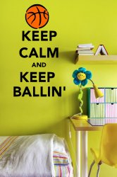 Keep Calm And Keep Ballin yellow/kids