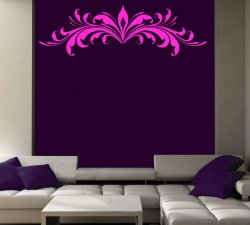 Flower-Floral-Pattern-Vinyl-Wall-Art Sticker