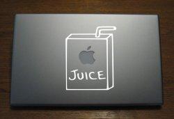 Laptop sticker -juice