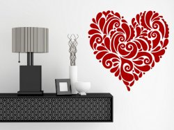Floral-Heart-Decal-Sticker