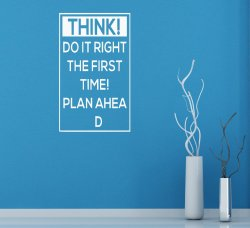 Plan ahead Wall Decal | Wall Stickers Store - UK shop with wall ...
