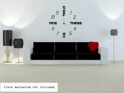 Modern Clock Background Sticker