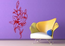 Beautiful Lily Flowers Wall Sticker