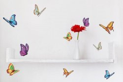 Set of colourful batterflies - Perfect Wall Stickers