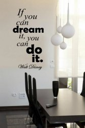 'If you can dream...' Walt Disney - Large Wall Quote