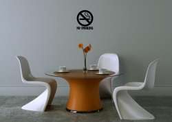'No smoking' and 'smoking' area - Set of 6 Commercial Stickers