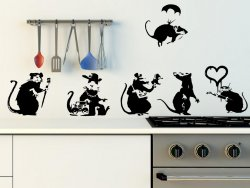 Banksy Large Collection Of Rats Version 2 - Set of 6 Rats