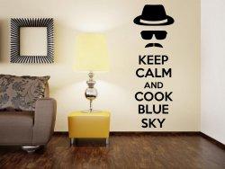 'Keep Calm and cook blue sky' - Heizenberg / Walter White / Breaking Bad - Vinyl