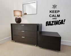 Keep Calm and BAZINGA! - Funny Wall Sticker Quote