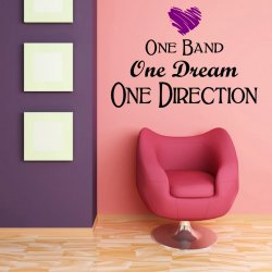 'One Band One Dream One Direction' - Girls / Teenager Room Wall Decoration