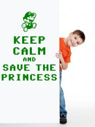 'Keep calm and save the princess' -  Amusing Super Mario Bros Wall Decor