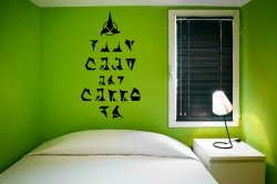 'Keep calm and carry on' in Klingonian - Star Trek Universe Wall Sticker