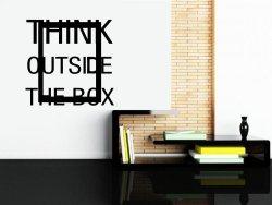 Think outside the box - Motivational Wall Decor