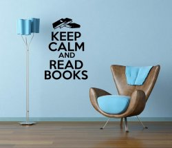 'Keep Calm and Read Books' - Vinyl Decal