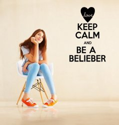 'Keep Calm and Be a Bielieber' - Justin Bieber True Fan Wall Decoration