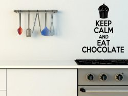 'Keep Calm and Eat Chocolate' - Funny Vinyl Decal