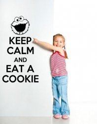 'Keep Calm and Eat a Cookie' - Amusing Wall Decal