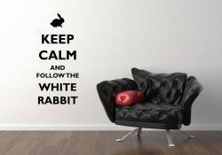 'Keep Calm and follow the white rabbit' - Vinyl Decoration