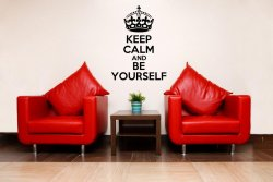 'Keep Calm and Be Yourself' - Vinyl Wall Decoration
