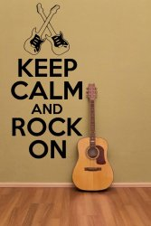 'Keep Calm and Rock On' version 2 - Vinyl Wall Decor
