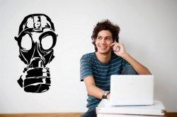 Gas Mask - 'Fallout' Style Large Wall Sticker