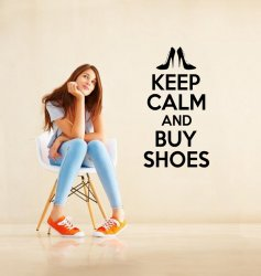 'Keep Calm and Buy Shoes' - Vinyl Wall Decoration