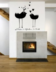 Two Lovely Birds - Romantic Large Decoration