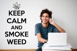 Keep Calm and Smoke Weed Decal