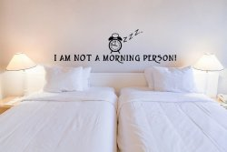 'I am not a morning person!' ver.2 - Funny Vinyl Decal