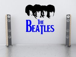 The Beatles Silhouette - Large Vinyl Decor