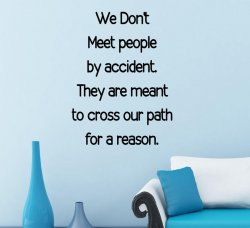 'We don't meet people by accident...' - Vinyl Wall Quote Sticker