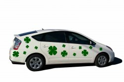 Set Of Clover Leaves - Wall / Car / Laptop Vinyl Stickers