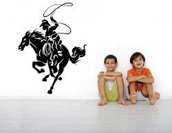 Rodeo Cowboy Wild Wild West - Kids Boys Room Wall Sticker
