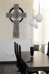 Ornamental Celtic Cross - Large Vinyl Sticker
