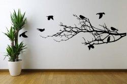 Amazing Birds On Branches - Huge Vinyl Sticker