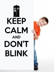 'Keep Calm and Don't Blink' - Doctor Who Vinyl Wall Decor