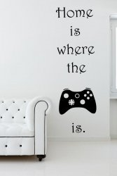 'Home Is Where The Controller Is' - Gamer's Room Wall Decor