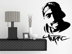 Tupac Shakur 2Pac - Large Vinyl Wall Sticker