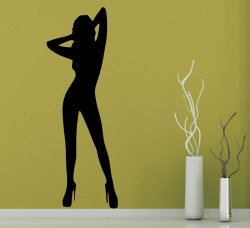 'Sexy Woman' - Large Vinyl Wall Sticker