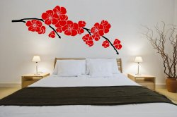 Japanese Cherry Blossom Ver2 Enhanced - Giant Wall Decoration