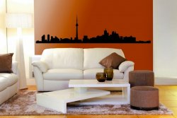Toronto Landscape Panorama - Large Wall Sticker