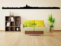 Rome Landscape Panorama - Huge Vinyl Wall Decal