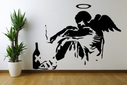 Banksy Fallen Angel XXL 120cm x 160cm Huge Wall Sticker