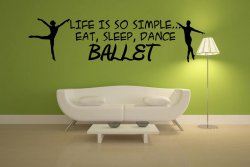 'Life is so simple... Eat, sleep, dance ballet' Ballet Boys Large Wall Decoratio