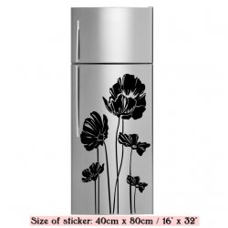 Elegant Poppy - Refrigerator Fridge Sticker Vinyl Transfer