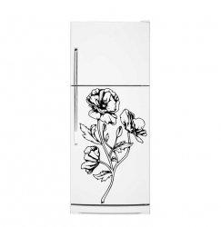Blooming Flowers - Fridge Refrigerator Vinyl Sticker Decal Kitchen Decoration